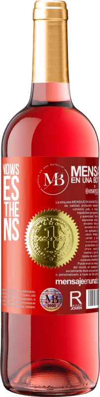 «The young man knows the rules, but the old the exceptions» ROSÉ Edition