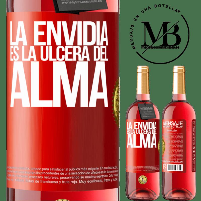 24,95 € Envoi gratuit | Vin rosé Édition ROSÉ L'envie est l'ulcère de l'âme Étiquette Rouge. Étiquette personnalisable Vin jeune Récolte 2020 Tempranillo