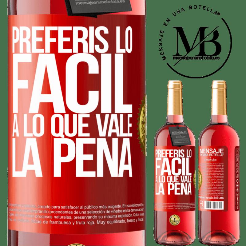 24,95 € Envoi gratuit | Vin rosé Édition ROSÉ Vous préférez le facile à la valeur Étiquette Rouge. Étiquette personnalisable Vin jeune Récolte 2020 Tempranillo