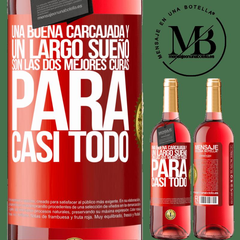 24,95 € Envoi gratuit | Vin rosé Édition ROSÉ Un bon rire et un long rêve sont les deux meilleurs remèdes pour presque tout Étiquette Rouge. Étiquette personnalisable Vin jeune Récolte 2020 Tempranillo