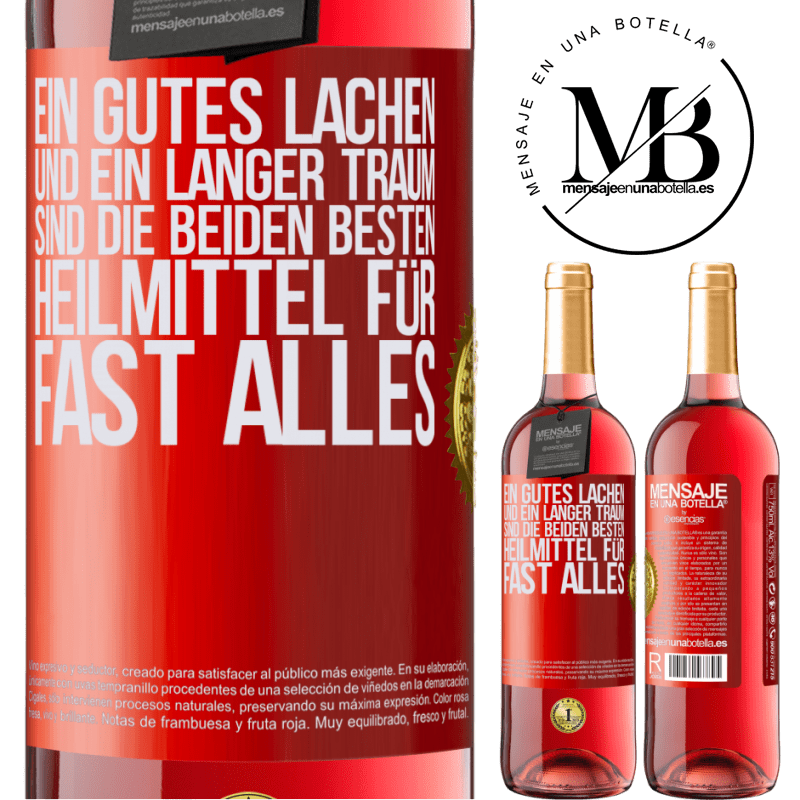 24,95 € Kostenloser Versand   Roséwein ROSÉ Ausgabe Ein gutes Lachen und ein langer Traum sind die beiden besten Heilmittel für fast alles Rote Markierung. Anpassbares Etikett Junger Wein Ernte 2020 Tempranillo