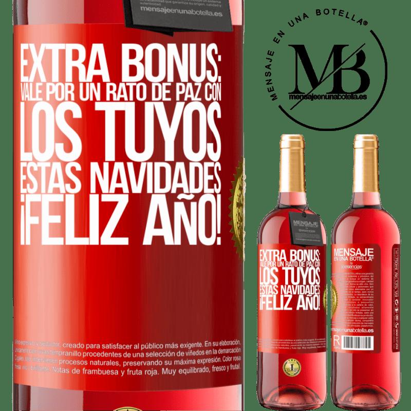 24,95 € Envoi gratuit   Vin rosé Édition ROSÉ Bonus supplémentaire: Ok pour un moment de paix avec le vôtre ce Noël. Bonne année! Étiquette Rouge. Étiquette personnalisable Vin jeune Récolte 2020 Tempranillo