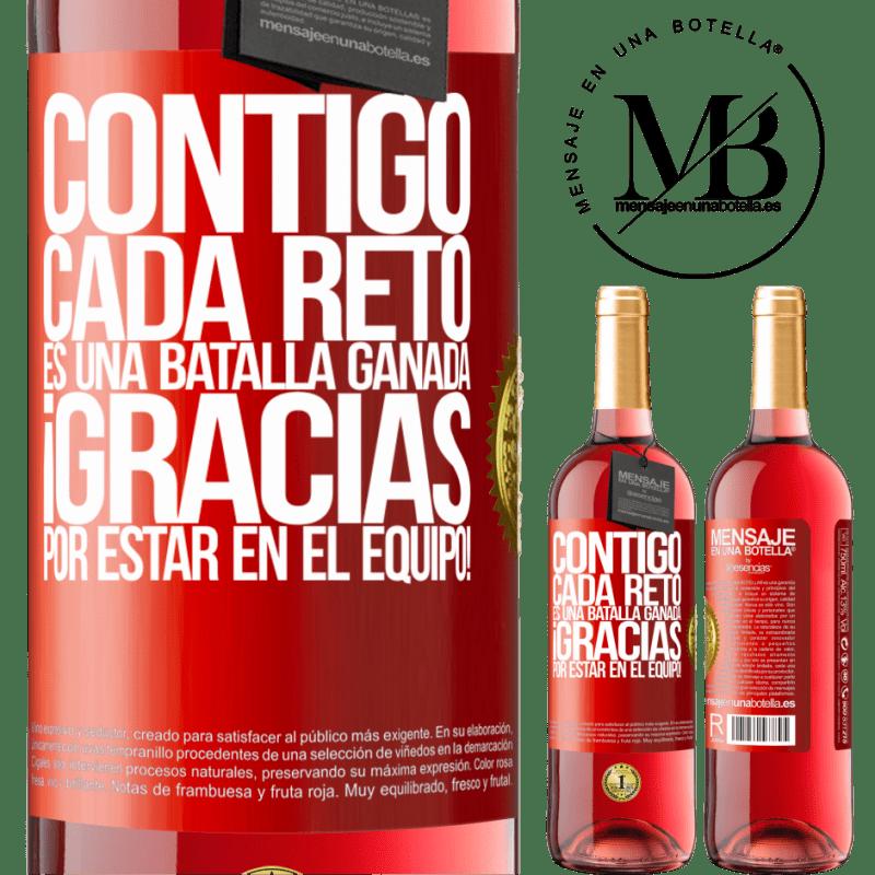 24,95 € Envoi gratuit | Vin rosé Édition ROSÉ Avec vous, chaque défi est une bataille gagnée. Merci d'être dans l'équipe! Étiquette Rouge. Étiquette personnalisable Vin jeune Récolte 2020 Tempranillo