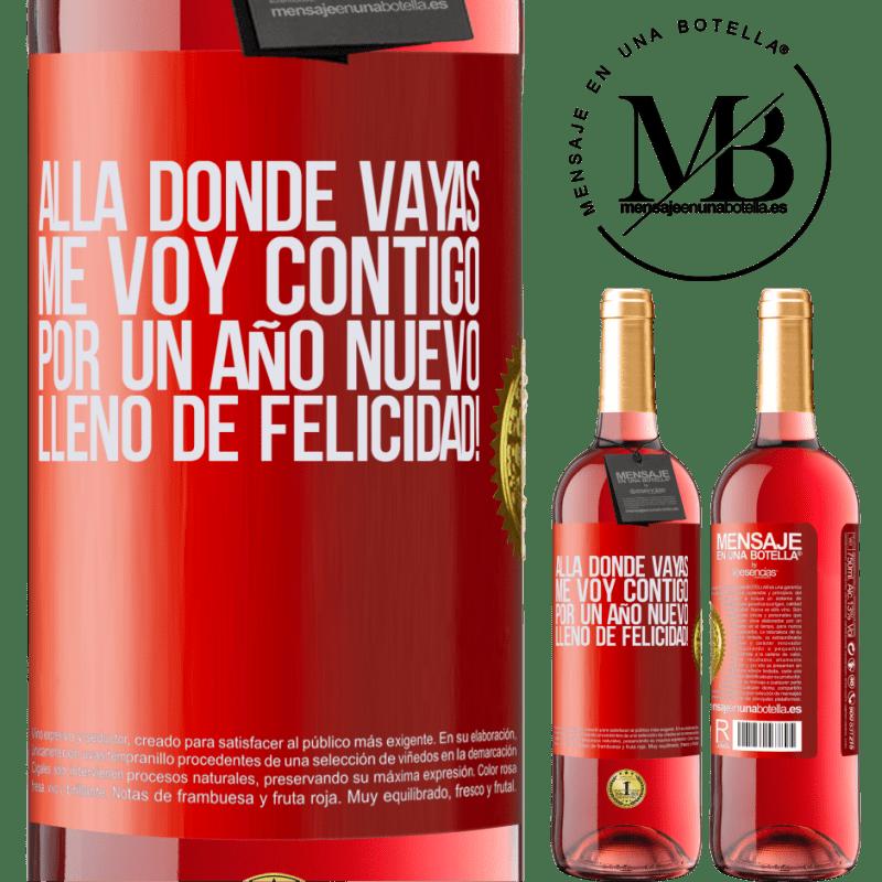 24,95 € Envoi gratuit   Vin rosé Édition ROSÉ Où que vous alliez, je vous accompagne. Pour une nouvelle année pleine de bonheur! Étiquette Rouge. Étiquette personnalisable Vin jeune Récolte 2020 Tempranillo
