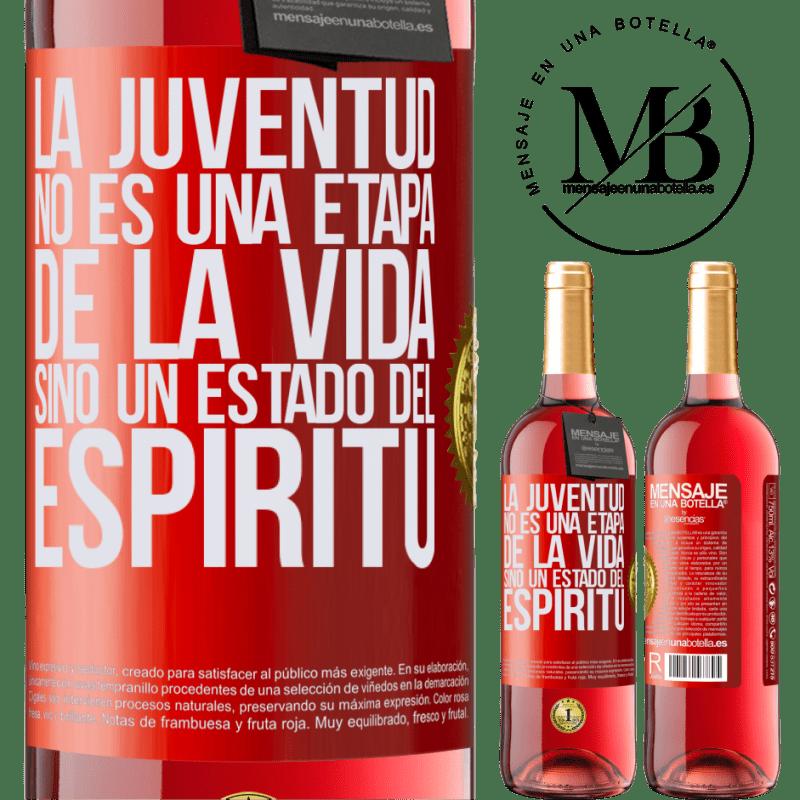 24,95 € Envoi gratuit   Vin rosé Édition ROSÉ La jeunesse n'est pas une étape de la vie, mais un état d'esprit Étiquette Rouge. Étiquette personnalisable Vin jeune Récolte 2020 Tempranillo