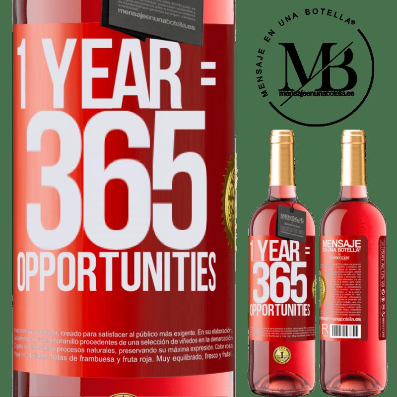 24,95 € Envoi gratuit | Vin rosé Édition ROSÉ 1 year 365 opportunities Étiquette Rouge. Étiquette personnalisable Vin jeune Récolte 2020 Tempranillo