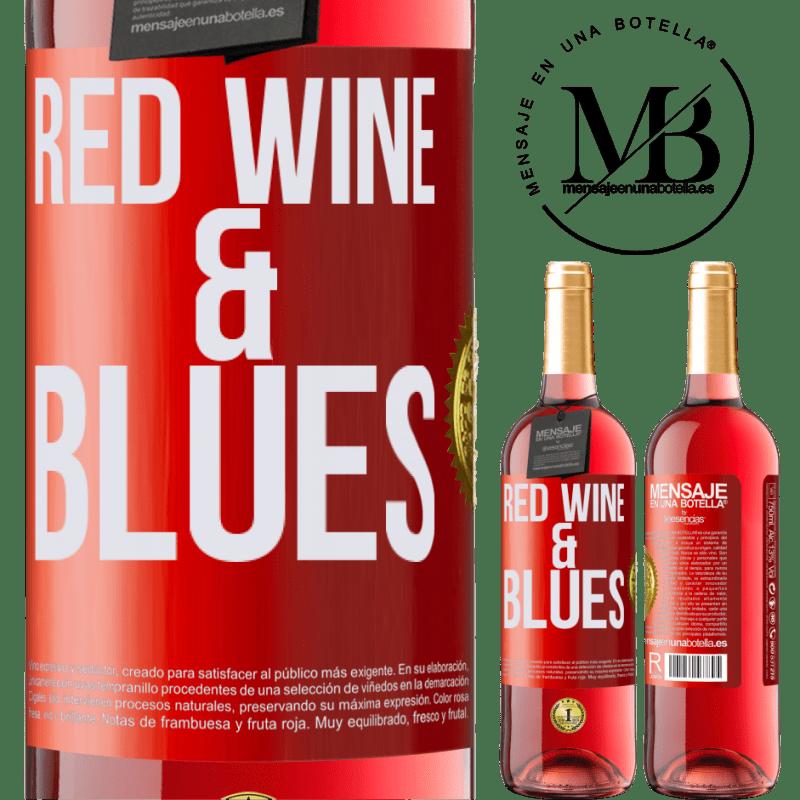 24,95 € Envoi gratuit | Vin rosé Édition ROSÉ Red wine & Blues Étiquette Rouge. Étiquette personnalisable Vin jeune Récolte 2020 Tempranillo