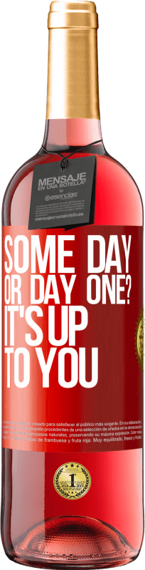 24,95 € Free Shipping | Rosé Wine ROSÉ Edition some day, or day one? It's up to you Red Label. Customizable label Young wine Harvest 2020 Tempranillo