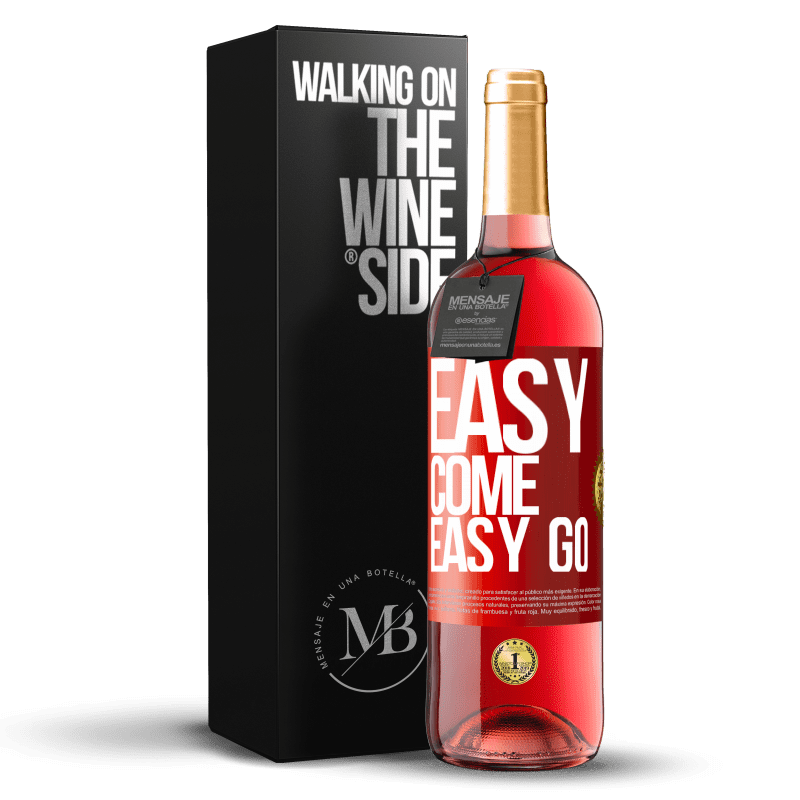 24,95 € Free Shipping   Rosé Wine ROSÉ Edition Easy come, easy go Red Label. Customizable label Young wine Harvest 2020 Tempranillo