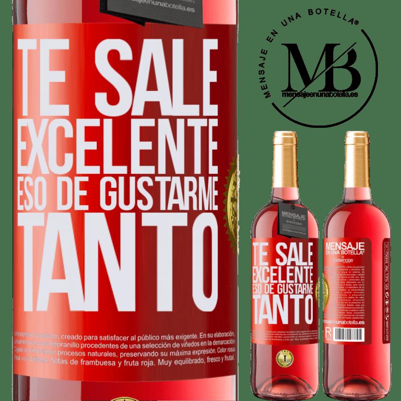 24,95 € Envoi gratuit | Vin rosé Édition ROSÉ Tu aimes tellement m'aimer tellement Étiquette Rouge. Étiquette personnalisable Vin jeune Récolte 2020 Tempranillo