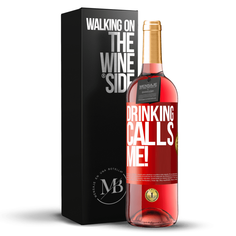 24,95 € Free Shipping | Rosé Wine ROSÉ Edition drinking calls me! Red Label. Customizable label Young wine Harvest 2020 Tempranillo