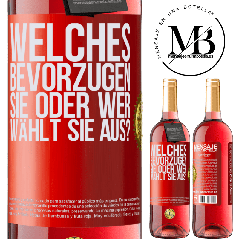 24,95 € Kostenloser Versand   Roséwein ROSÉ Ausgabe welches bevorzugen Sie oder wer wählt Sie aus? Rote Markierung. Anpassbares Etikett Junger Wein Ernte 2020 Tempranillo