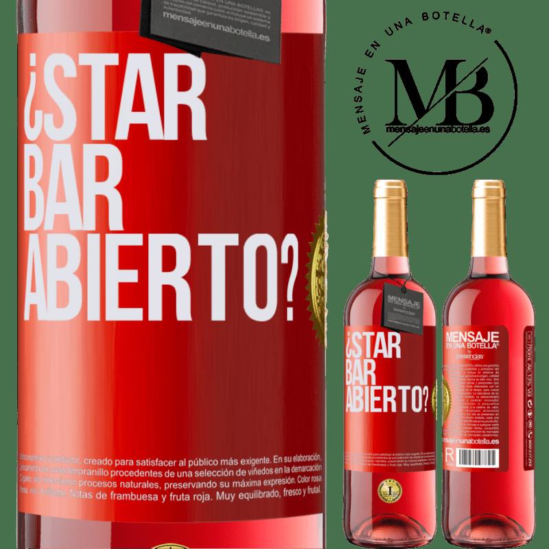 24,95 € Envoi gratuit | Vin rosé Édition ROSÉ ¿STAR BAR abierto? Étiquette Rouge. Étiquette personnalisable Vin jeune Récolte 2020 Tempranillo