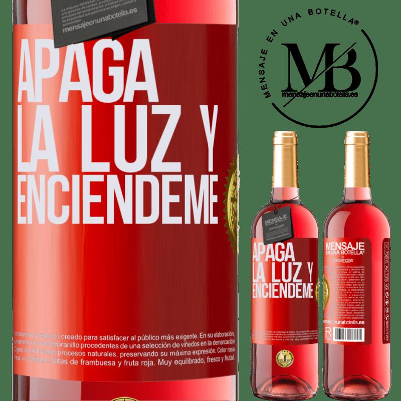 24,95 € Envoi gratuit   Vin rosé Édition ROSÉ Éteins la lumière et allume-moi Étiquette Rouge. Étiquette personnalisable Vin jeune Récolte 2020 Tempranillo