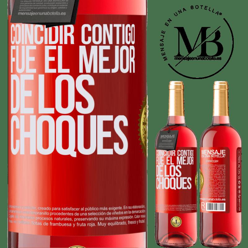 24,95 € Envoi gratuit   Vin rosé Édition ROSÉ Vous correspondre était le meilleur des accidents Étiquette Rouge. Étiquette personnalisable Vin jeune Récolte 2020 Tempranillo