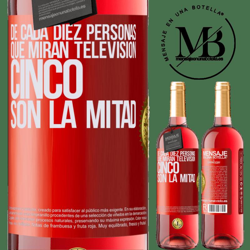 24,95 € Envoi gratuit | Vin rosé Édition ROSÉ Sur dix personnes qui regardent la télévision, cinq sont la moitié Étiquette Rouge. Étiquette personnalisable Vin jeune Récolte 2020 Tempranillo