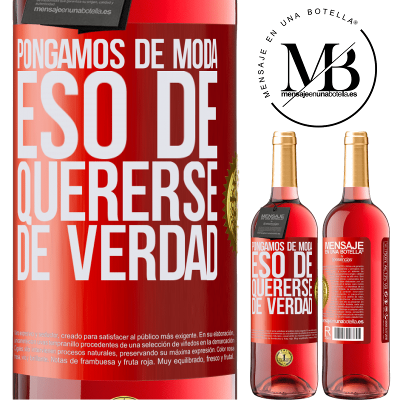 24,95 € Envoi gratuit | Vin rosé Édition ROSÉ Mettons cette mode vraiment amoureuse Étiquette Rouge. Étiquette personnalisable Vin jeune Récolte 2020 Tempranillo