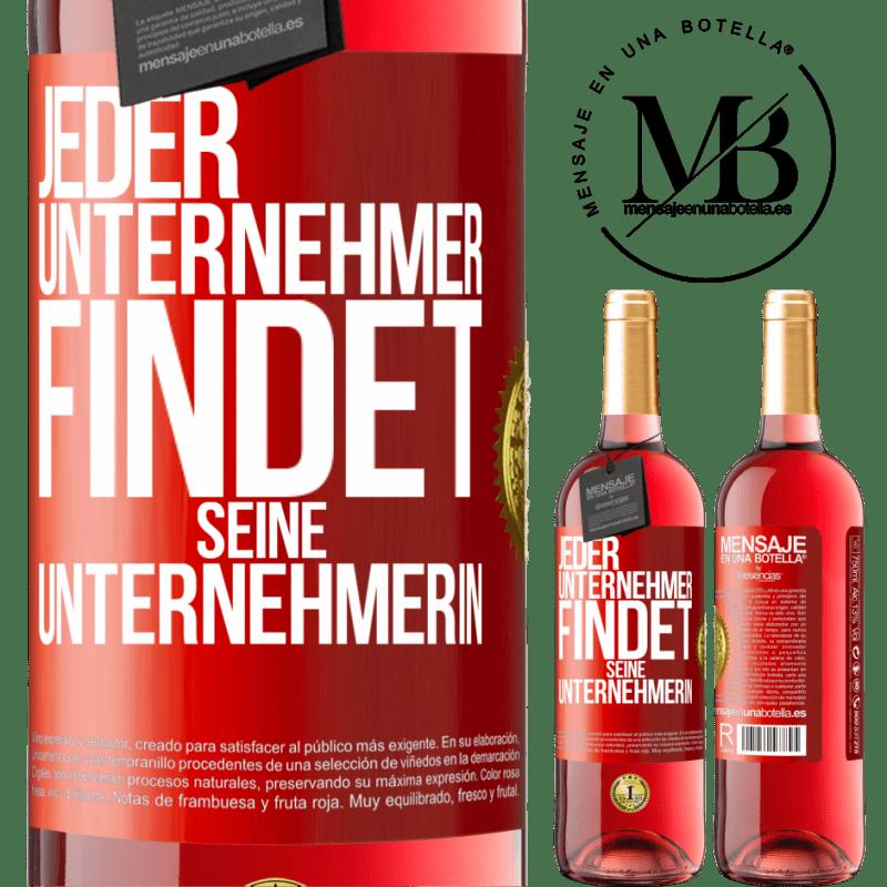 24,95 € Kostenloser Versand | Roséwein ROSÉ Ausgabe Jeder Unternehmer bekommt seinen Unternehmer Rote Markierung. Anpassbares Etikett Junger Wein Ernte 2020 Tempranillo