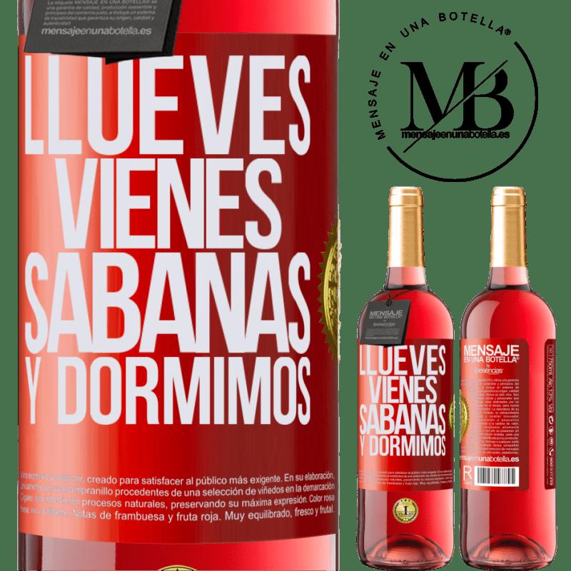 24,95 € Envoi gratuit | Vin rosé Édition ROSÉ Llueves, vienes, sábanas y dormimos Étiquette Rouge. Étiquette personnalisable Vin jeune Récolte 2020 Tempranillo