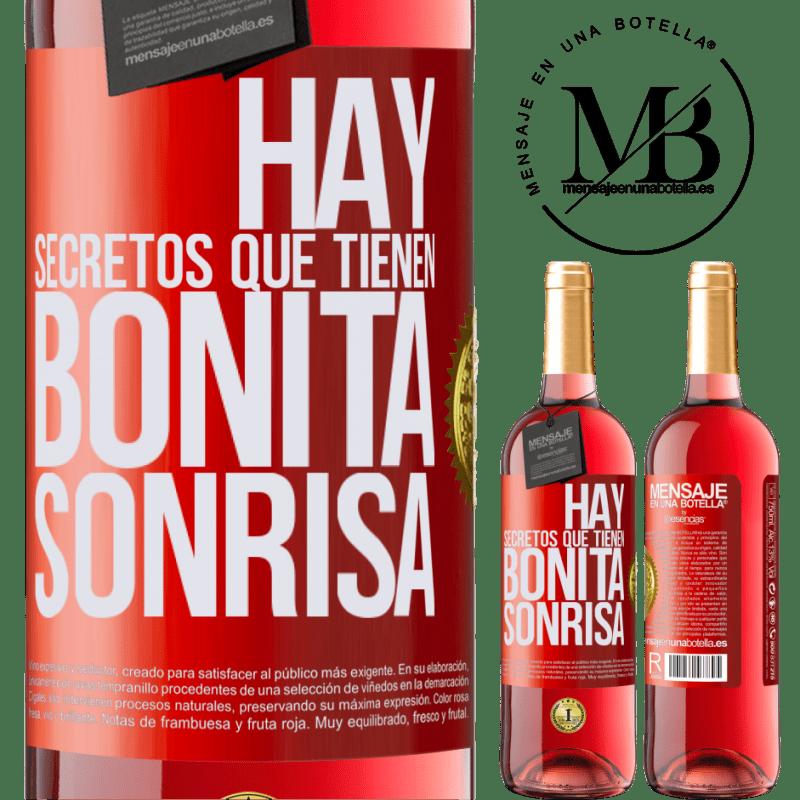 24,95 € Envoi gratuit   Vin rosé Édition ROSÉ Il y a des secrets qui ont un beau sourire Étiquette Rouge. Étiquette personnalisable Vin jeune Récolte 2020 Tempranillo