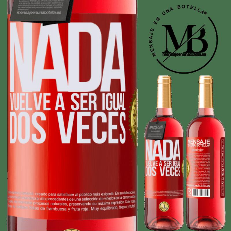 24,95 € Envoi gratuit   Vin rosé Édition ROSÉ Rien n'est plus pareil deux fois Étiquette Rouge. Étiquette personnalisable Vin jeune Récolte 2020 Tempranillo