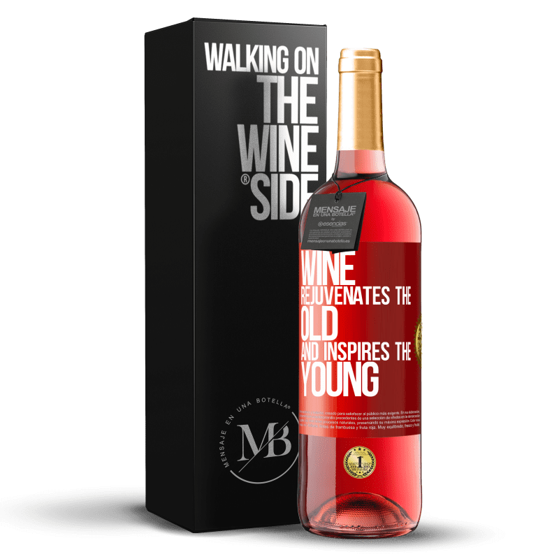24,95 € Free Shipping | Rosé Wine ROSÉ Edition Wine rejuvenates the old and inspires the young Red Label. Customizable label Young wine Harvest 2020 Tempranillo