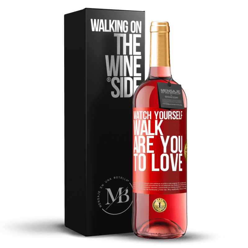 24,95 € Free Shipping   Rosé Wine ROSÉ Edition Watch yourself walk. Are you to love Red Label. Customizable label Young wine Harvest 2020 Tempranillo