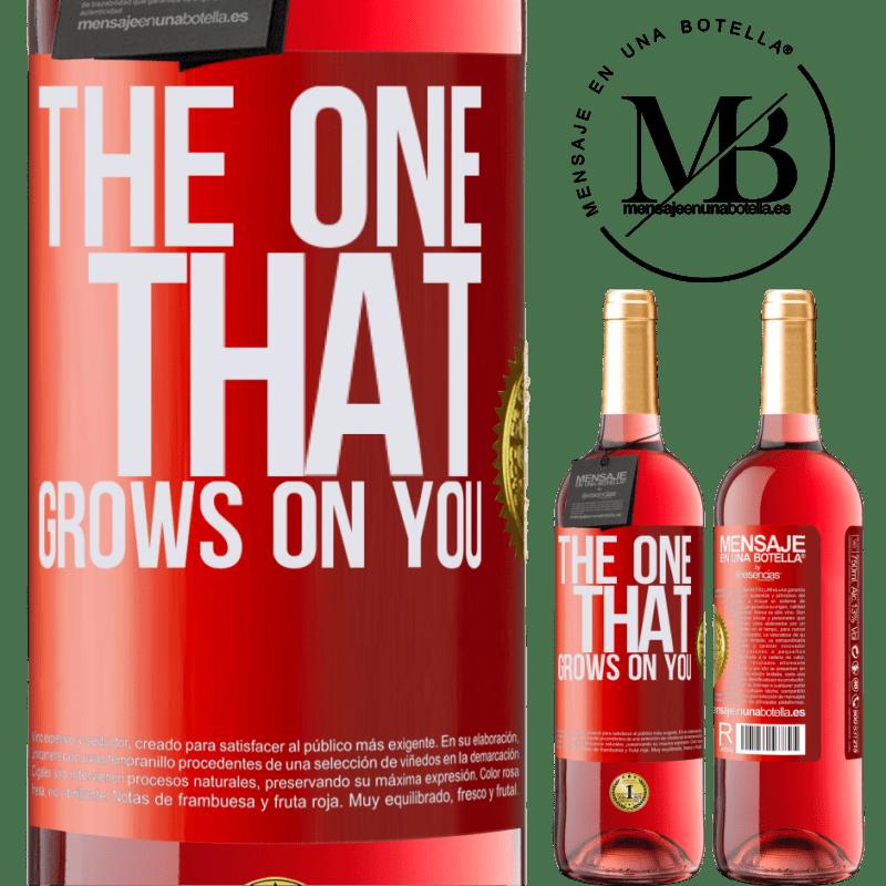 24,95 € Envoi gratuit   Vin rosé Édition ROSÉ The one that grows on you Étiquette Rouge. Étiquette personnalisable Vin jeune Récolte 2020 Tempranillo