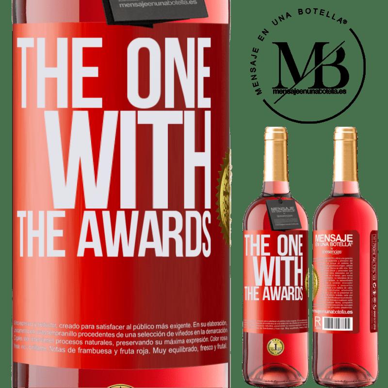 24,95 € Envoi gratuit   Vin rosé Édition ROSÉ The one with the awards Étiquette Rouge. Étiquette personnalisable Vin jeune Récolte 2020 Tempranillo