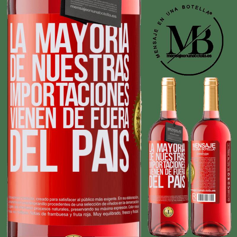 24,95 € Envoi gratuit   Vin rosé Édition ROSÉ La plupart de nos importations proviennent de l'extérieur du pays Étiquette Rouge. Étiquette personnalisable Vin jeune Récolte 2020 Tempranillo