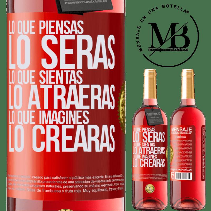 24,95 € Envoi gratuit | Vin rosé Édition ROSÉ Ce que vous pensez être, ce que vous pensez vous attirer, ce que vous imaginez créer Étiquette Rouge. Étiquette personnalisable Vin jeune Récolte 2020 Tempranillo