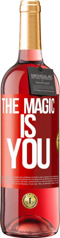 24,95 € Free Shipping | Rosé Wine ROSÉ Edition The magic is you Red Label. Customizable label Young wine Harvest 2020 Tempranillo