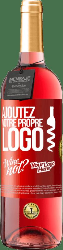 24,95 € Envoi gratuit   Vin rosé Édition ROSÉ Ajoutez votre propre logo Étiquette Rouge. Étiquette personnalisable Vin jeune Récolte 2020 Tempranillo