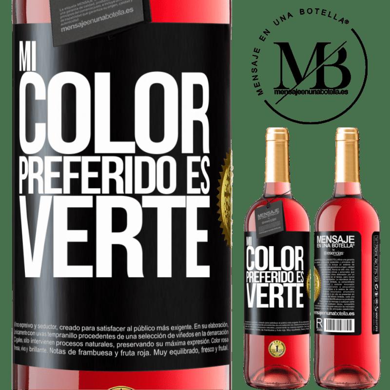 24,95 € Envoi gratuit | Vin rosé Édition ROSÉ Mi color preferido es: verte Étiquette Noire. Étiquette personnalisable Vin jeune Récolte 2020 Tempranillo