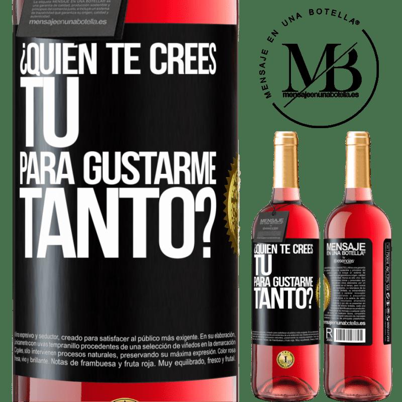 24,95 € Envoi gratuit   Vin rosé Édition ROSÉ qui penses-tu que tu m'aimes autant? Étiquette Noire. Étiquette personnalisable Vin jeune Récolte 2020 Tempranillo
