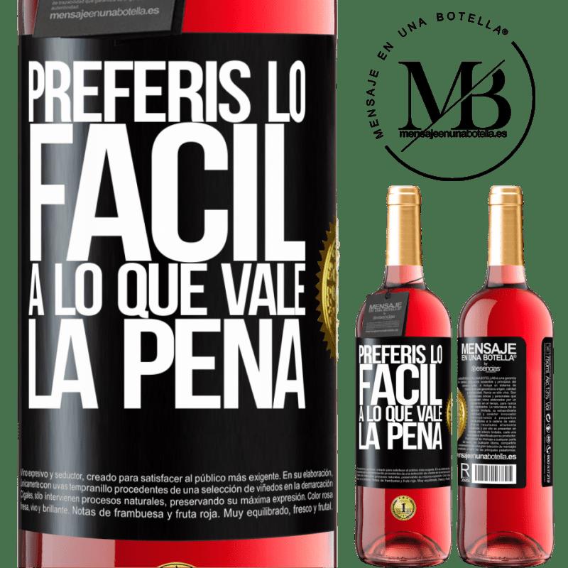 24,95 € Envoi gratuit | Vin rosé Édition ROSÉ Vous préférez le facile à la valeur Étiquette Noire. Étiquette personnalisable Vin jeune Récolte 2020 Tempranillo