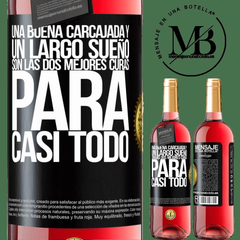 24,95 € Envoi gratuit | Vin rosé Édition ROSÉ Un bon rire et un long rêve sont les deux meilleurs remèdes pour presque tout Étiquette Noire. Étiquette personnalisable Vin jeune Récolte 2020 Tempranillo