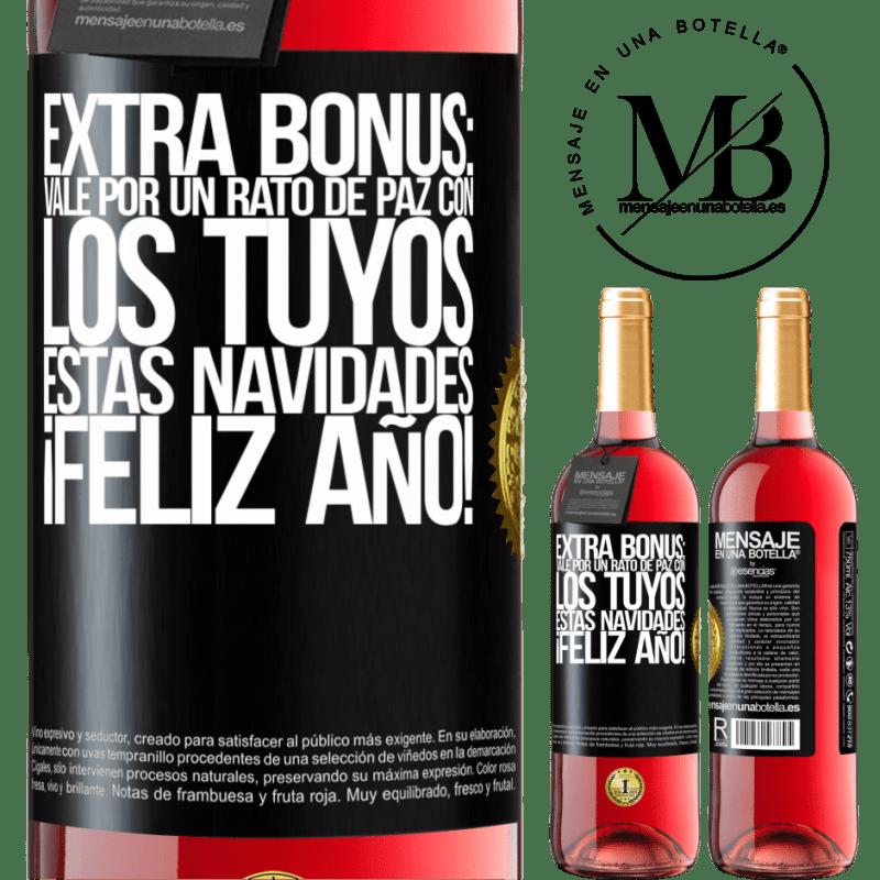 24,95 € Envoi gratuit   Vin rosé Édition ROSÉ Bonus supplémentaire: Ok pour un moment de paix avec le vôtre ce Noël. Bonne année! Étiquette Noire. Étiquette personnalisable Vin jeune Récolte 2020 Tempranillo