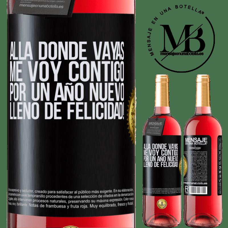 24,95 € Envoi gratuit   Vin rosé Édition ROSÉ Où que vous alliez, je vous accompagne. Pour une nouvelle année pleine de bonheur! Étiquette Noire. Étiquette personnalisable Vin jeune Récolte 2020 Tempranillo