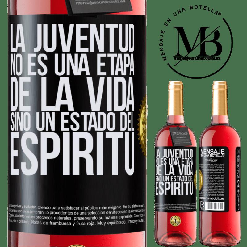24,95 € Envoi gratuit   Vin rosé Édition ROSÉ La jeunesse n'est pas une étape de la vie, mais un état d'esprit Étiquette Noire. Étiquette personnalisable Vin jeune Récolte 2020 Tempranillo
