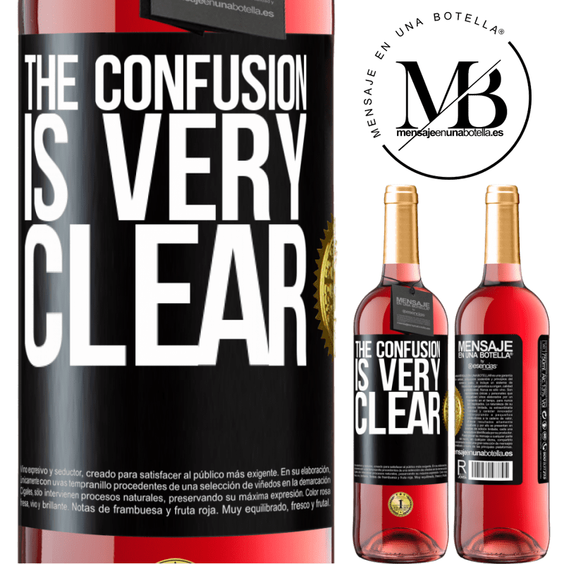 24,95 € Free Shipping | Rosé Wine ROSÉ Edition The confusion is very clear Black Label. Customizable label Young wine Harvest 2020 Tempranillo