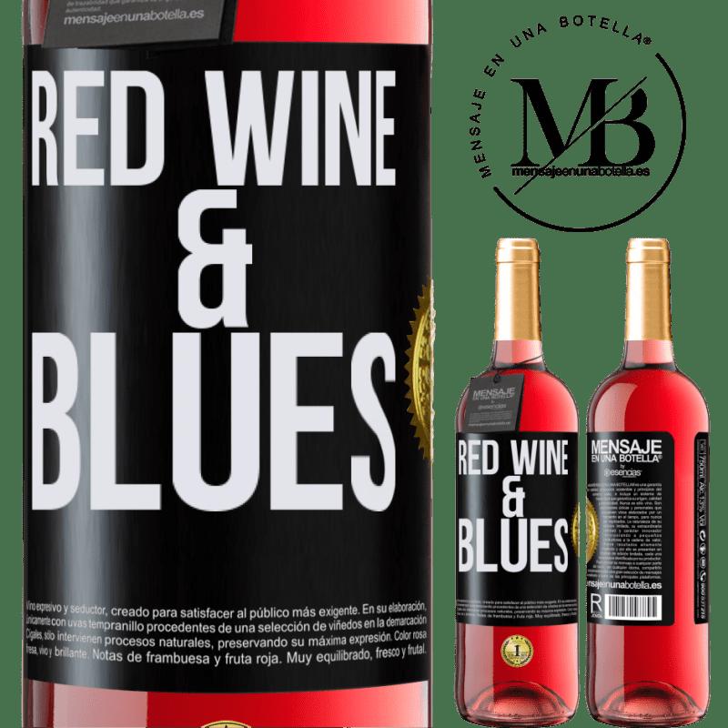 24,95 € Envoi gratuit | Vin rosé Édition ROSÉ Red wine & Blues Étiquette Noire. Étiquette personnalisable Vin jeune Récolte 2020 Tempranillo