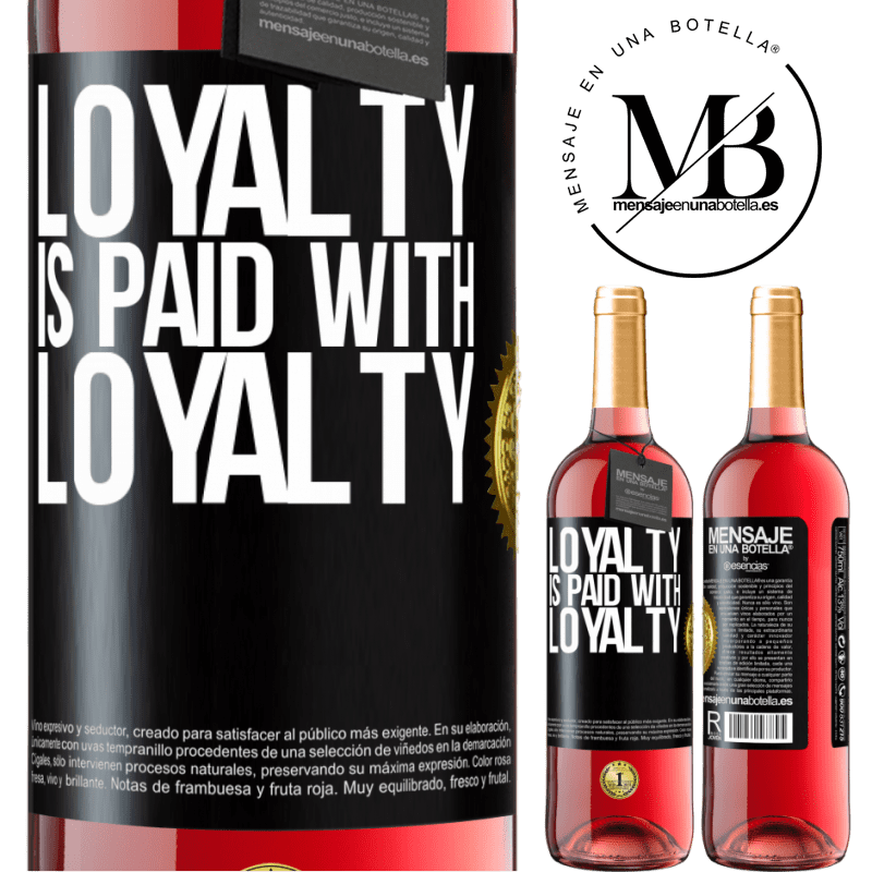 24,95 € Free Shipping   Rosé Wine ROSÉ Edition Loyalty is paid with loyalty Black Label. Customizable label Young wine Harvest 2020 Tempranillo