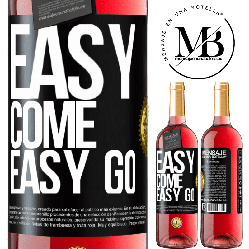 24,95 € Free Shipping   Rosé Wine ROSÉ Edition Easy come, easy go Black Label. Customizable label Young wine Harvest 2020 Tempranillo