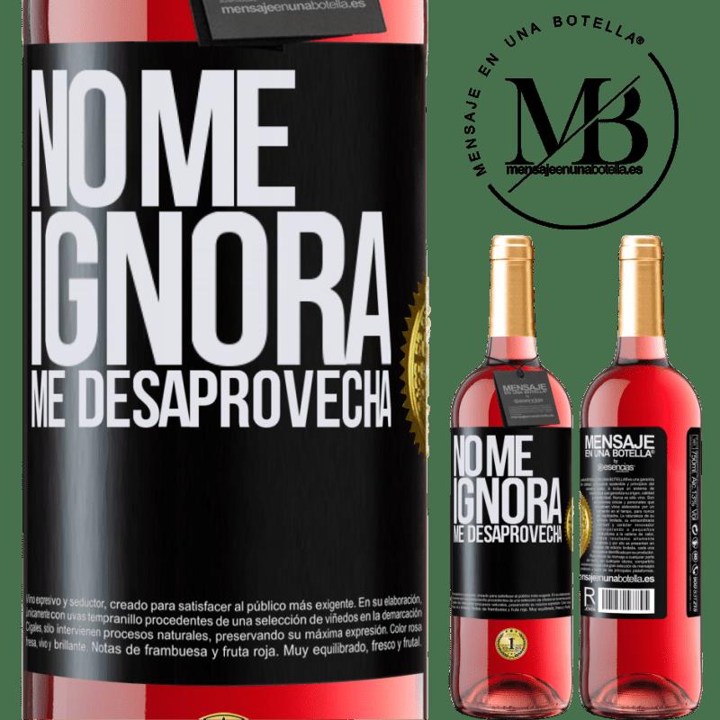 24,95 € Envoi gratuit | Vin rosé Édition ROSÉ Il ne m'ignore pas, il me manque Étiquette Noire. Étiquette personnalisable Vin jeune Récolte 2020 Tempranillo