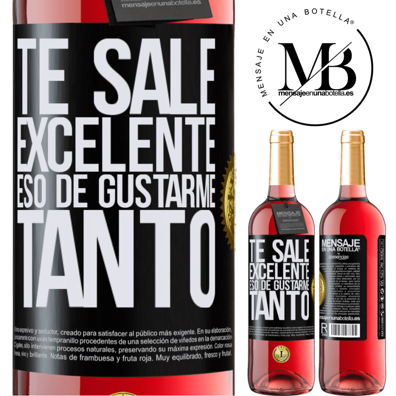 24,95 € Envoi gratuit | Vin rosé Édition ROSÉ Tu aimes tellement m'aimer tellement Étiquette Noire. Étiquette personnalisable Vin jeune Récolte 2020 Tempranillo