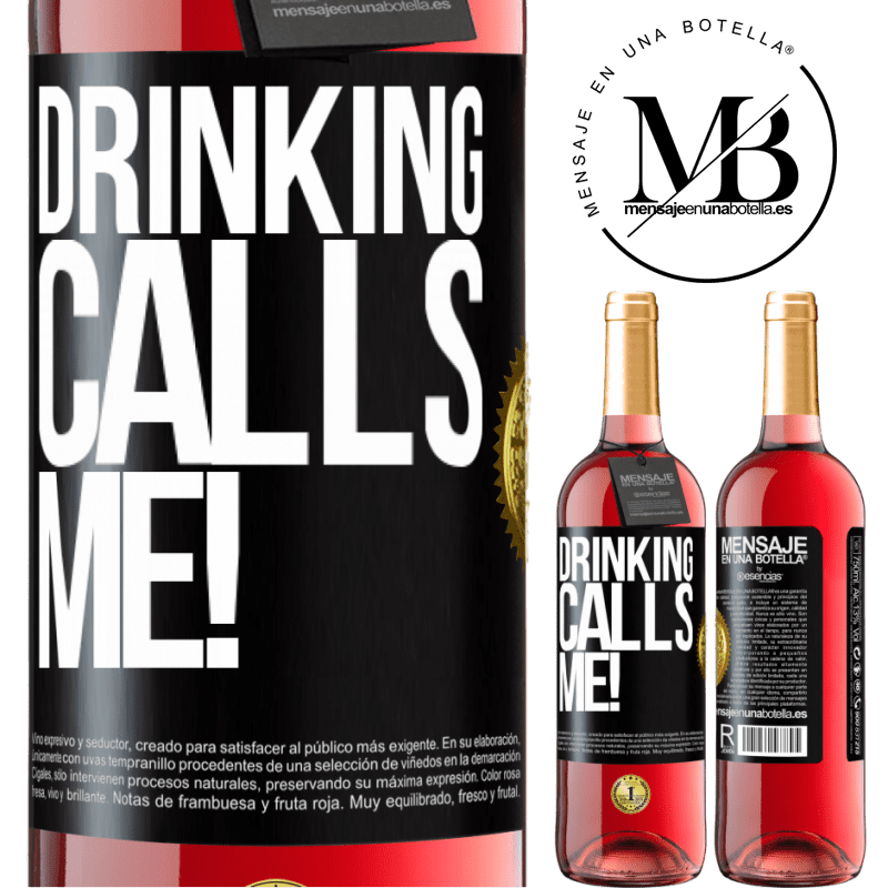 24,95 € Free Shipping | Rosé Wine ROSÉ Edition drinking calls me! Black Label. Customizable label Young wine Harvest 2020 Tempranillo