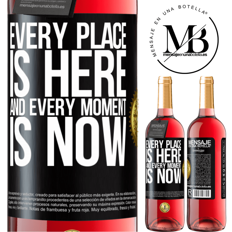 24,95 € Free Shipping | Rosé Wine ROSÉ Edition Every place is here and every moment is now Black Label. Customizable label Young wine Harvest 2020 Tempranillo