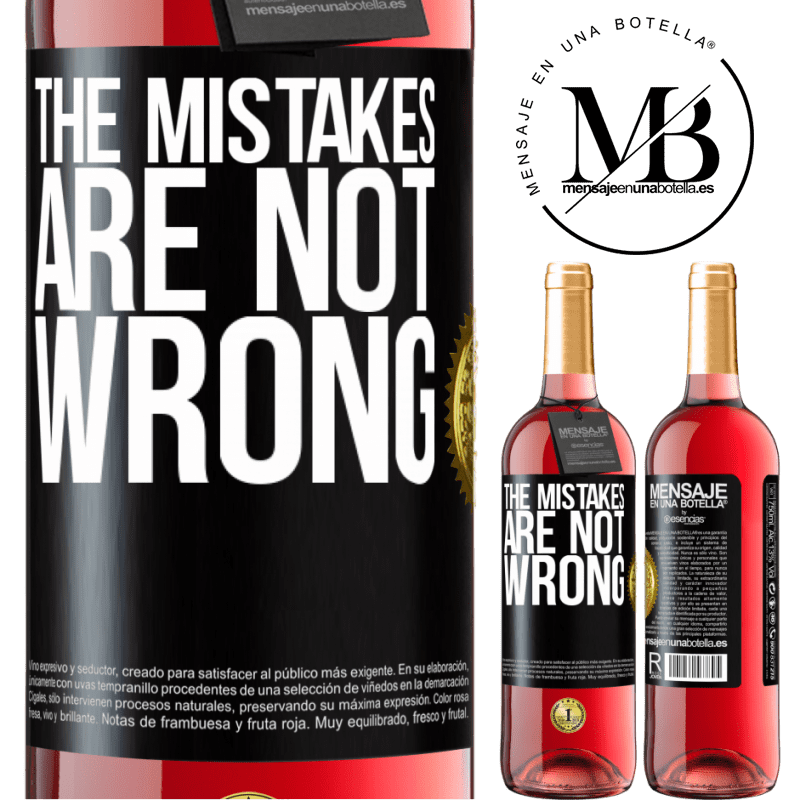 24,95 € Free Shipping   Rosé Wine ROSÉ Edition The mistakes are not wrong Black Label. Customizable label Young wine Harvest 2020 Tempranillo