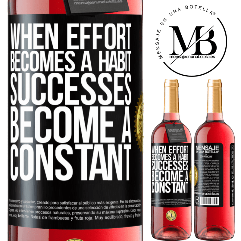 24,95 € Free Shipping   Rosé Wine ROSÉ Edition When effort becomes a habit, successes become a constant Black Label. Customizable label Young wine Harvest 2020 Tempranillo